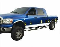 "fits 2002-2008 Dodge Ram Quad Cab Long Bed Rocker Panel Trim 8"" Stainless"