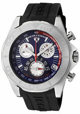 SWISS LEGEND 18010-03 TUNGSTEN CHRONOGRAPH BLUE DIAL BLACK SILICONE STRAP