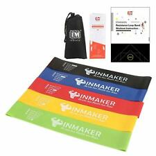 Exercise Workout Resistance Loop Bands Health Fitness Set of 5 with Carry Bag