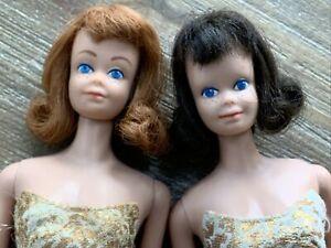 Vintage Barbie BRUNETTE &  RED HEAD MIDGE Lot