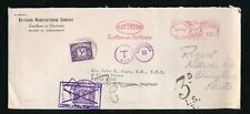 POSTAGE DUE 1953 CHARGE NOT COLLECTED ENFIELD + REDIRECTED CHORLEYWOOD..from USA
