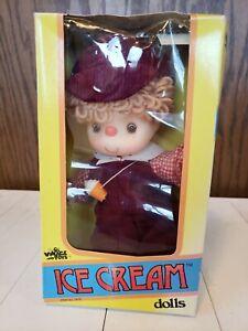 VINTAGE Ice Cream Doll Boy WITH ORIGINAL BOX 1980 VILLAGE TOYS UNUSED