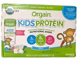 Orgain Kids Organic Nutritional Shake, Vanilla , 8g Protein, 12 Ct