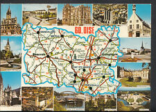 France Postcard - Map and Views of Oise  B2911