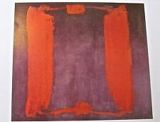 Mark Rothko Poster Panel One  (Harvard Mural Triptych) 1962 14x11 Unsigned