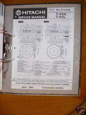 Manual de servicio para Hitachi t-44h/t-44l Hifi Original