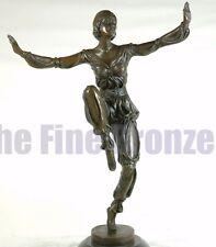 Signed P.Laurel, bronze statue art deco dancer sculpture