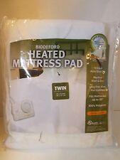 New Biddeford Heated Mattress Pad Twin Auto shut off 39 x 75 bedding bed warm