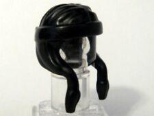 LEGO - Minifig, Headgear Hair Long and Side Braided with Headband - Black