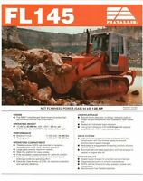 Fiat Allis FL145 Crawler loader specs sales literature