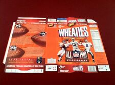 NFL All Pro Quarterbacks Wheaties Box Marino, Elway, FLAT FROM FACTORY, Rare!