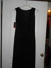 NWT J.R. Nites by Caliendo Black  Long  Dress  Ball Gown  Nylon/Spandex SZ 14