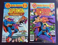 SUPERMAN FAMILY #185 & 186 - 1977 DC Comics - Jimmy Olsen! Nightwing! Supergirl!
