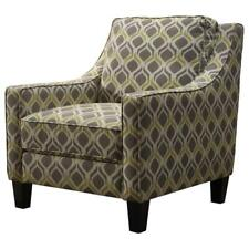 Best Master Tori Fabric Upholstered Living Room Arm Chair in Yellow/Gray