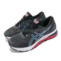 Asics Gel-Nimbus 21 Black Blue Red Mens Running Shoes FlyteFoam 1011A169-005