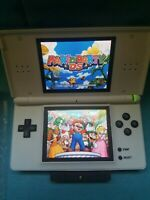 Nintendo DS Lite Console New White Shell W/ Games & Charger Mint Condition Mario
