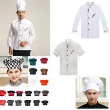 Chef Apparel Unisex Short Long Sleeve White Chef Jacket Coat Chef Hat