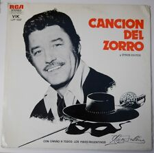 "Disney Record ""Cancion Del Zorro"" INCLUDES Collectable Notes - LZP-1237 - (VG+)"