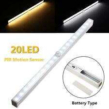 20 LED PIR Lampe Lumière Sans Fil PIR Capteur Mouvement Armoire Tiroir Placard