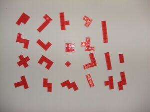 2013 Mattel BLOKUS Complete Game Set Of 21 Red Replacement Tile Pieces