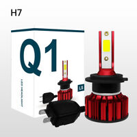 H7 All-In-One Q1 LED Phare de Voiture 50W 8000LM COB Ampoules Hi/Lo Beam 6000K