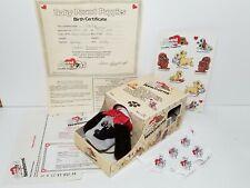 Vintage Pound Puppies Newborn Gray, Brown Spots Box Papers Sticker 1985 Tonka