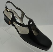 ROS HOMMERSON WOMENS SHOES HEELS SIZE 9N BLACK  ANKLE STRAP PUMPS SLINGBACK
