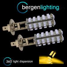 2x H1 GIALLO 60 LED ant. LAMPADINE FARI ANTERIORI FASCIO LUMINOSO INTENSO