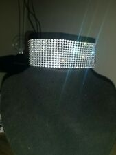 Fashion Women Full Diamond Crystal Rhinestone Choker Necklace Wedding Jewellery