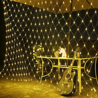 96/200/880 LED Net Mesh Fairy String Party Lights Xmas Christmas Home Decoration