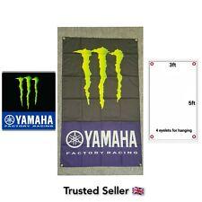 Monster Yamaha Workshop Garage Banner Flag Mancave R1 KTM Kawasaki Ninja Honda