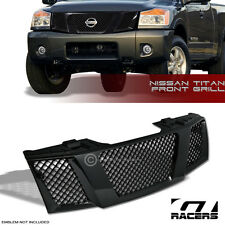 FOR 2004-2007 TITAN/ARMADA BLK LUXURY MESH FRONT HOOD BUMPER GRILL GRILLE COVER