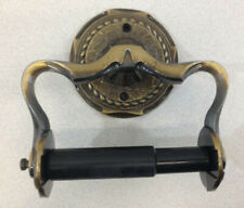 Vintage Amerock Toilet Paper Tissue Roll Holder Carriage House Dark Brass Plated