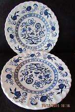 "J&G Meakin English Ironstone BLUE NORDIC  Blue Onion (6) 6 7/8"" Plates"