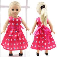 "Fits 18"" Girl Madame Alexander Handmade Fashion Doll Clothes Pink Dress Hot M1I0"