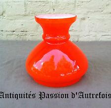 B20150276 - Très belle bobèche, globe en verre - orange - Très bon état