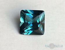 Topaz London Blue. Radiant cut 8x8mm. 2,3 Ct. Created Gemstone Monosital. US@