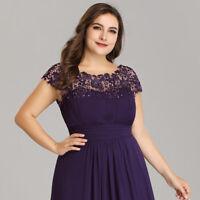 Ever-Pretty Plus Size Evening Formal Dresses Long Maxi Party Dress Purple 09993