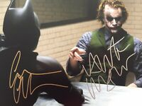 A Genuine Signed Batman Photo By Heath Ledger & Christian Bale 1