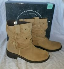 """Coolway """"Brisi"""" Tan Suede Ankle Boots With Tassel New w/ Box Women US 7M EUR 38"""
