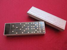 VINTAGE RARE PERFECT DOMINO GAME RUSSIAN BAKELITE BOX RUSSIA USED