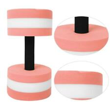 1X Pink white Eco-Friendly Roundness Foam Water Floating Dumbbell Fitness Kit