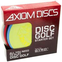 Axiom Premium Disc Golf Starter 3 Disc Set - Putter Midrange Driver (Assorted)