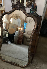 Antique Ornate Gold Carved Gesso Wall Mirror Victorian Large Xl 46�