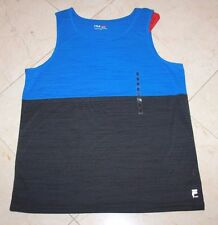 NWT Men's FILA SPORT 2-Tone Live-In-Motion Athletic Tank Top Blue/Gray - Medium
