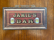 "Jamie's BAR WOOD SIGN, 7 1/2"" X 4"""