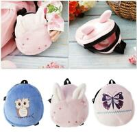 "Pink Lovely Mini Doll Backpack School Bag For 18"" DOll Accessories Zipper Pouch"