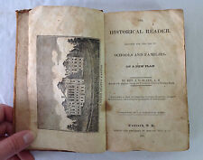The Historical Reader by Rev. J. L. Blake 1828 Concord NH Horatio Hill and Co