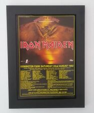 IRON MAIDEN*Donington*1992*ORIGINAL*A4*ADVERT*QUALITY*FRAMED*FAST WORLD SHIP