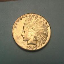 Rare Date 1909-S Gold $10 Indian Head Eagle Coin ~ BU ~